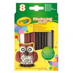 Pâte à modeler : 8 bâtons couleurs naturelles