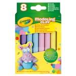 Pâte à modeler : 8 bâtons couleurs pastelles