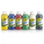Peinture 6 bouteilles de peinture lavable