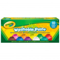 Peinture : 10 pots de peinture lavable