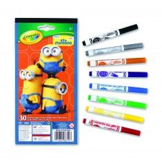 Set de coloriages Minions + 8 feutres