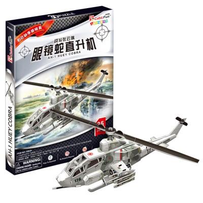Puzzle 3D 35 pièces : Hélicoptère AH-1 Huey Cobra - Cubic-71504
