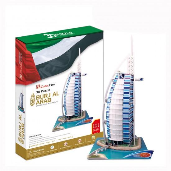 Puzzle 3D 101 pièces : Burj Al Arab, Dubaï - Cubic-77777