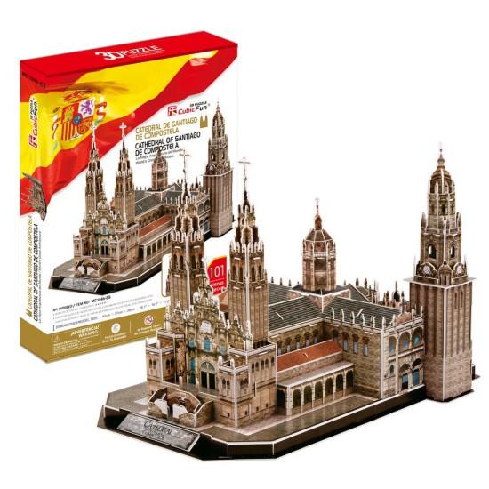 Puzzle 3D 101 pièces : Cathédrale de Saint-Jacques de Compostelle, Espagne - Cubic-79101