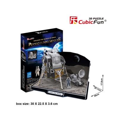 Puzzle 3D 104 pièces : Apollo Lunar Module - Cubic-79320