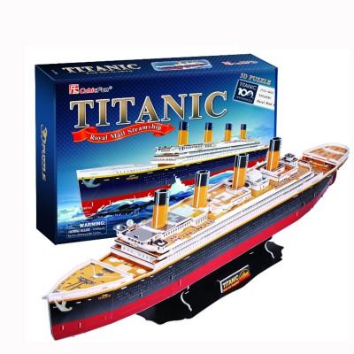 Puzzle 3D 113 pièces : Titanic - Cubic-78195