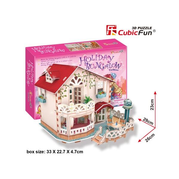 Puzzle 3D 114 pièces : Bungalow des vacances - Cubic-79319