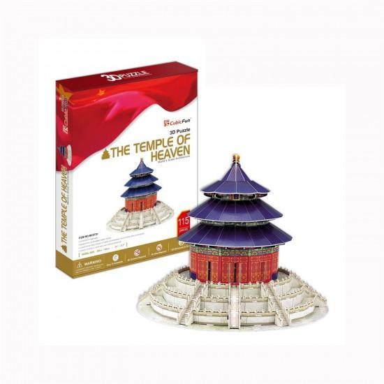 Puzzle 3D 115 pièces : Le temple du ciel, Chine - Cubic-77762