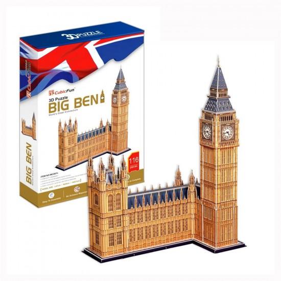 Puzzle 3D 116 pièces : Big Ben, Londres - Cubic-77773