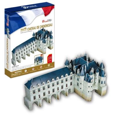 Puzzle 3D 116 pièces : Château de Chenonceau - Cubic-79122