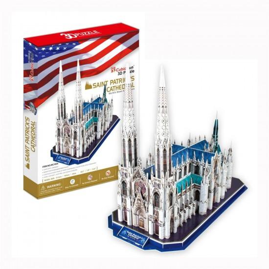 Puzzle 3D 117 pièces : Cathédrale Saint Patrick, Etats Unis - Cubic-77768
