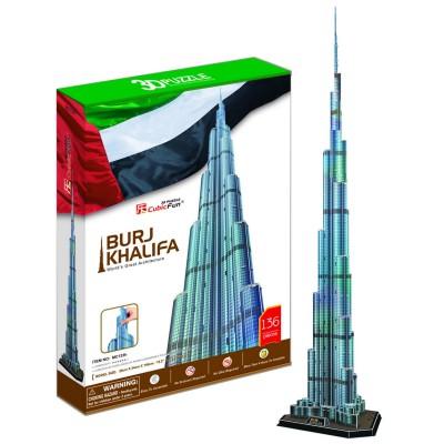 Puzzle 3D 136 pièces : Burj Khalifa, Dubaï - Cubic-79026