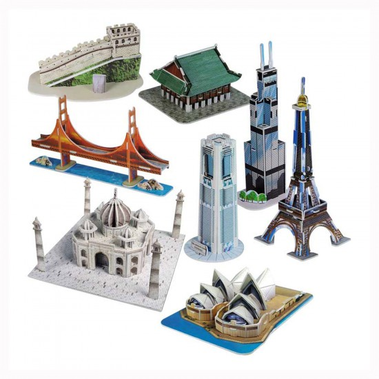 Puzzle 3D 155 pièces : Les plus beaux monuments du monde Série 2 - Cubic-78190