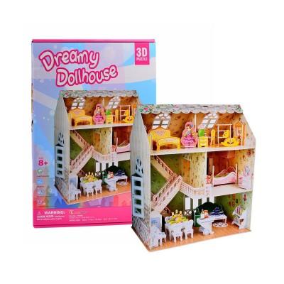 Puzzle 3D 160 pièces : Maison de poupée - Cubic-79318
