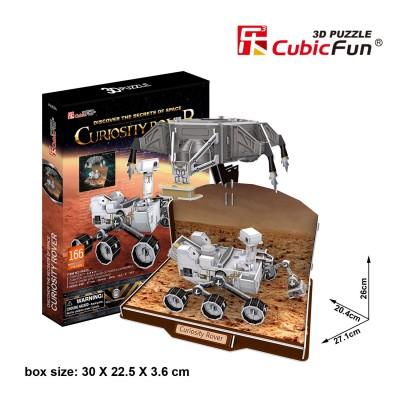 Puzzle 3D 166 pièces : Curiosity Rover - Cubic-79321