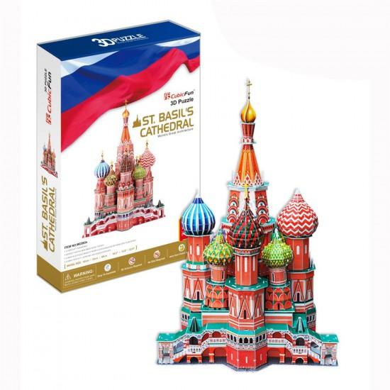 Puzzle 3D 173 pièces : Cathédrale Saint Basile, Russie - Cubic-77776