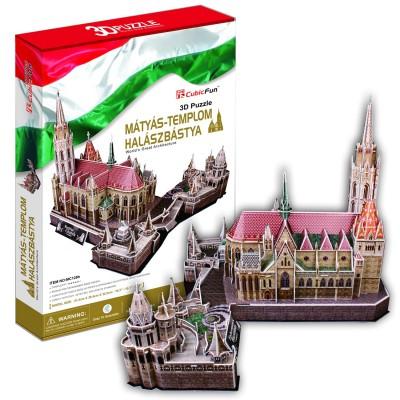 Puzzle 3D 176 pièces : Eglise Matthias et Bastion des Pêcheurs, Budapest - Cubic-79025