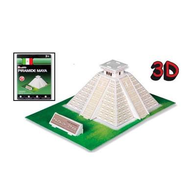 Puzzle 3D 19 pièces : Pyramide Maya, Mexique - Cubic-77706