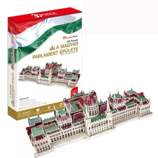 Puzzle 3D 237 pièces : Parlement Hongrois, Hongrie - Cubic-77772
