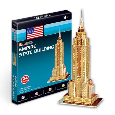 Puzzle 3D 24 pièces : Empire State Building - Cubic-77698