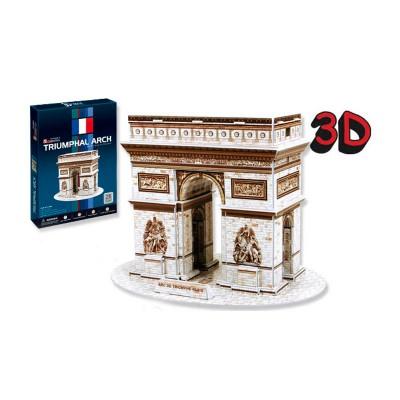 Puzzle 3D 26 pièces : L'Arc de Triomphe, France - Cubic-77738