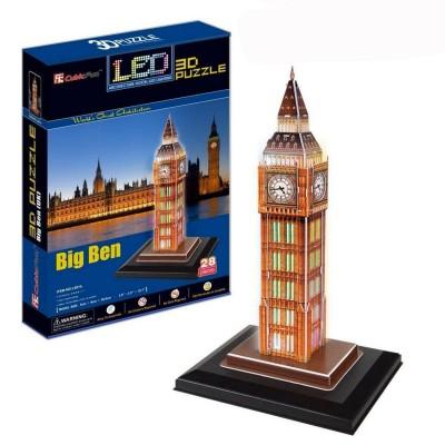 Puzzle 3D 28 pièces Lumineux : Big Ben, Londres - Cubic-77778