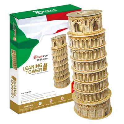 Puzzle 3D 30 pièces : Tour penchée de Pise - Cubic-77757