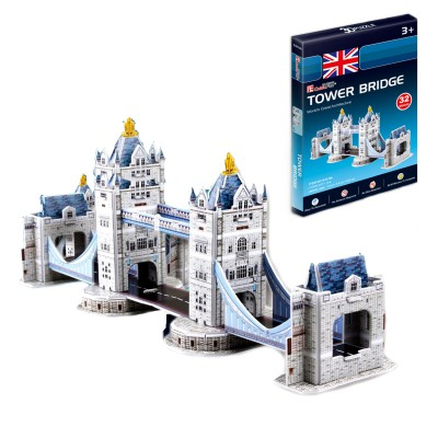 Puzzle 3D 32 pièces : Tower Bridge, Londres - Cubic-77705