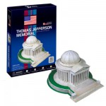 Puzzle 3D 35 pièces : Jefferson Memorial, Washington DC