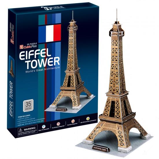 Puzzle 3D 35 pièces : Tour Eiffel - Cubic-77737