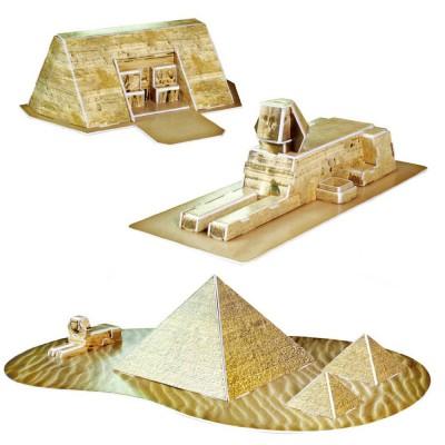Puzzle 3D 38 pièces : Reliques de l'Egypte - Cubic-77747