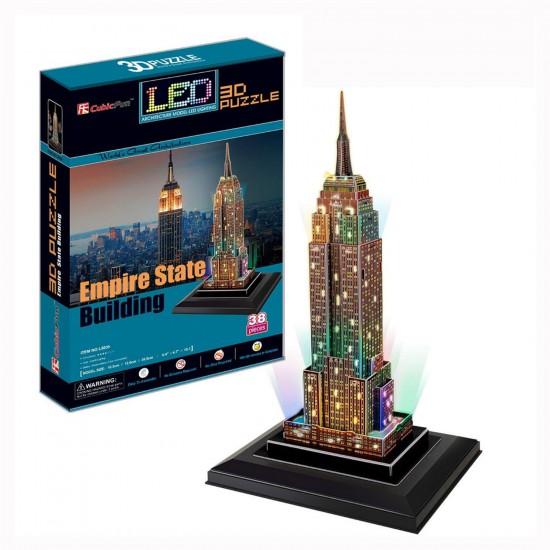 Puzzle 3D 38 pièces Lumineux : Empire State Building, Etats Unis - Cubic-77780