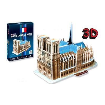Puzzle 3D 40 pièces : Notre-Dame de Paris, France - Cubic-77726
