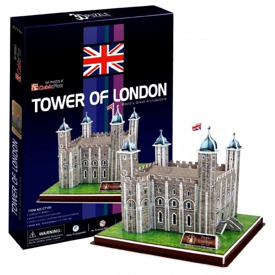 Puzzle 3D 40 pièces : Tour de Londres - Cubic-77725