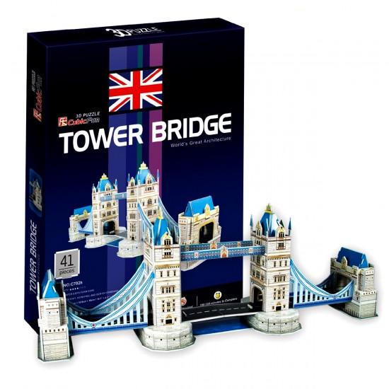 Puzzle 3D 41 pièces : Tower Bridge, Londres - Cubic-77714