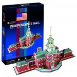 Puzzle 3D 43 pièces : Independence Hall, Philadelphie