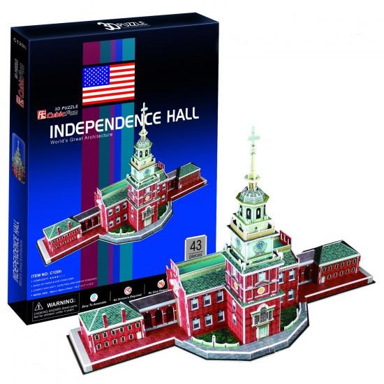 Puzzle 3D 43 pièces : Independence Hall, Philadelphie - Cubic-77736
