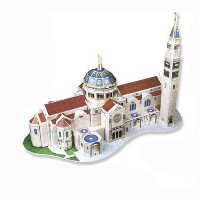 Puzzle 3D 44 pièces : Basilique du sanctuaire de l'immaculée conception, Etats Unis - Cubic-77731