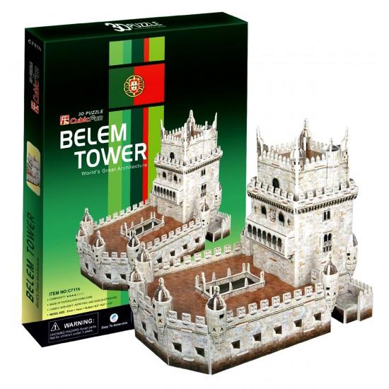 Puzzle 3D 46 pièces : Tour de Bélem, Portugal - Cubic-77721