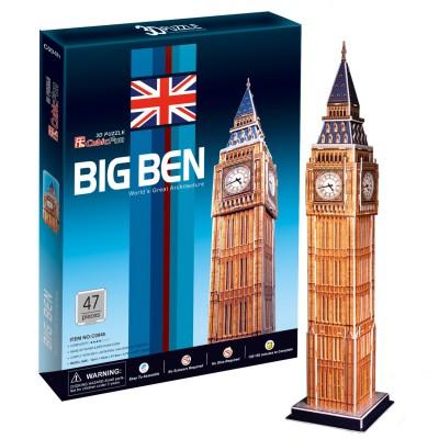 Puzzle 3D 47 pièces : Big Ben - Cubic-77753