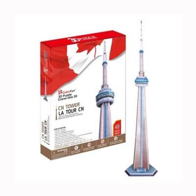 Puzzle 3D 48 pièces : Tour CN, Canada - Cubic-77770