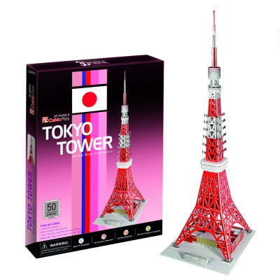 Puzzle 3D 50 pièces : Tour de Tokyo - Cubic-77748
