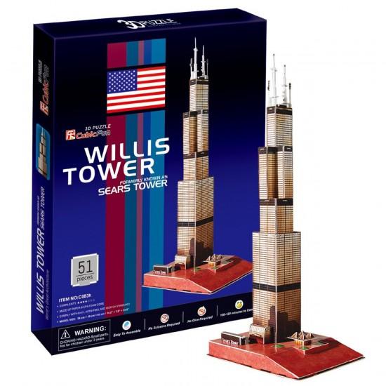 Puzzle 3D 51 pièces : Willis Tower, Chicago - Cubic-77751
