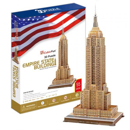 Puzzle 3D 55 pièces : Empire State Building - Cubic-77756