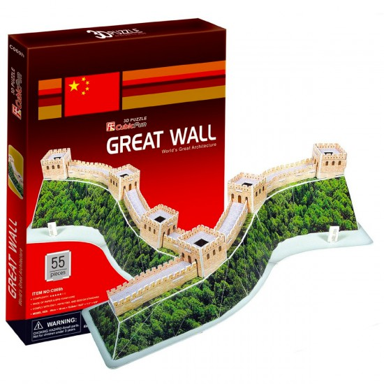 Puzzle 3D 55 pièces : Grand Muraille de Chine - Cubic-77743