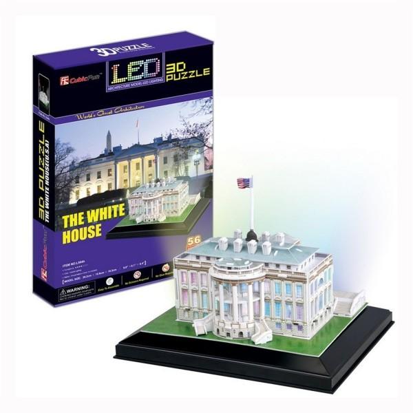 puzzle 3d 56 pi ces lumineux la maison blanche etats. Black Bedroom Furniture Sets. Home Design Ideas
