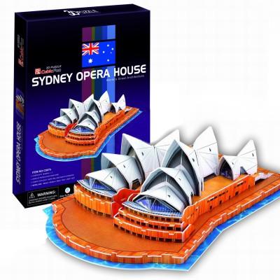 Puzzle 3D 58 pièces : Opéra de Sydney - Cubic-77742