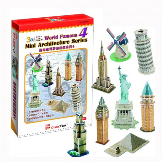 Puzzle 3D 60 pièces : Les plus beaux monuments du monde Série 4 - Cubic-78192