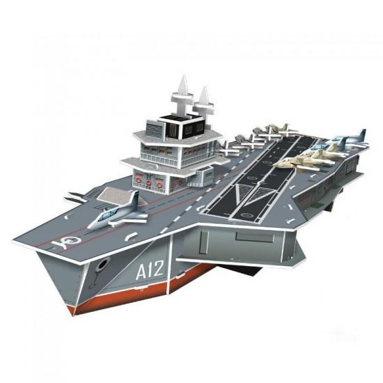 Puzzle 3D 60 pièces : Porte-avions Charles de Gaulle - Cubic-71506