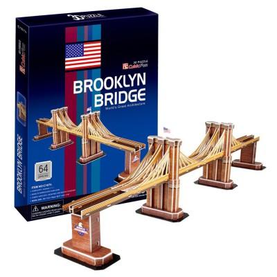 Puzzle 3D 64 pièces : Pont de Brooklyn - Cubic-77729